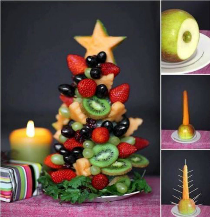 tuto sapin de no l en salade de fruits la recette. Black Bedroom Furniture Sets. Home Design Ideas