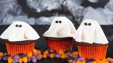 Cupcakes fantômes pour Halloween