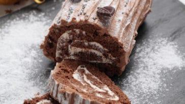 bûche chocolat vanille