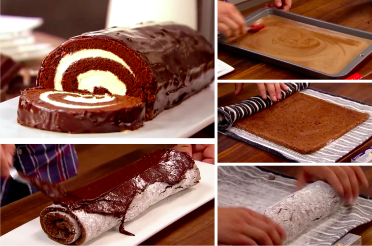 Recette roule chocolat chantilly