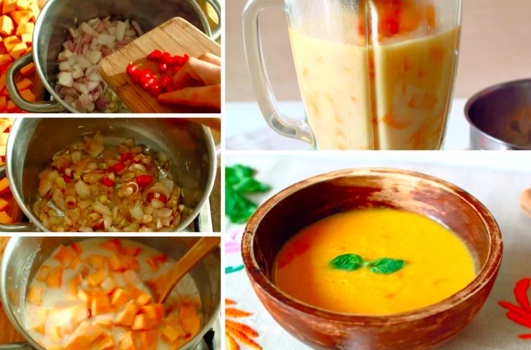 Soupe au potiron et au lait de coco la recette - Soupe potiron lait de coco curry ...