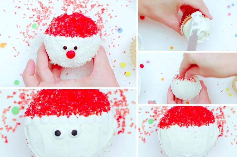 Comment d corer ses cupcakes aux couleurs du p re no l for Decorer la table de noel