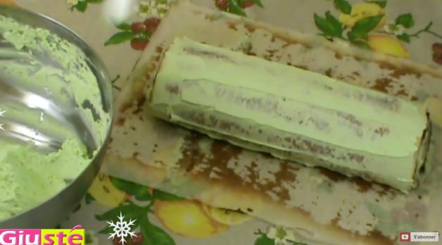 bûche Noël pistache Nutella 13