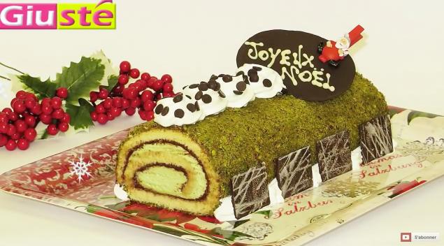 bûche Noël pistache Nutella 18