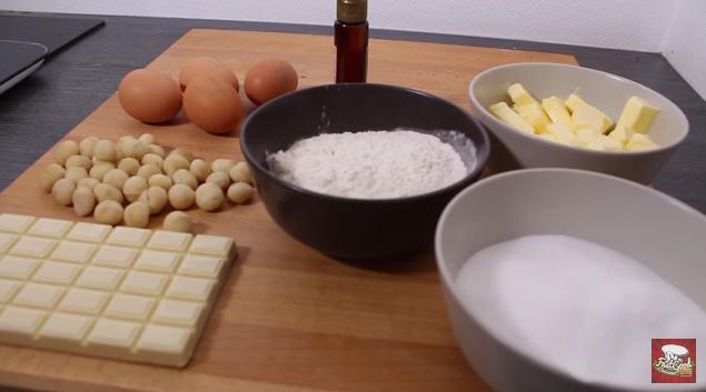 brownie chocolat blanc noix Macadamia 1