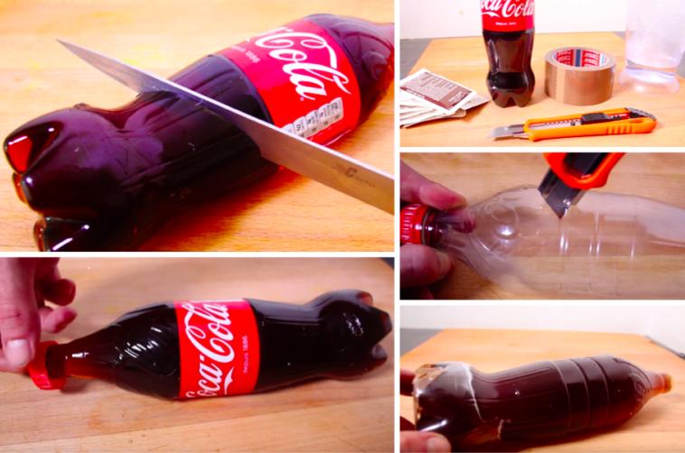 comment faire un bonbon xxl en forme de bouteille de coca. Black Bedroom Furniture Sets. Home Design Ideas