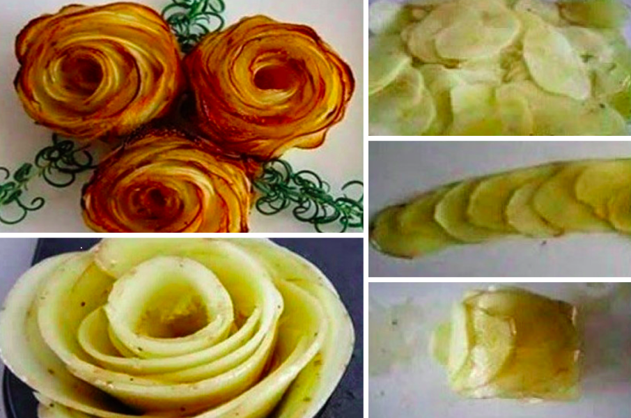 Comment faire de croustillantes roses de pomme de terre la recette - Comment faire partir des abeilles de terre ...