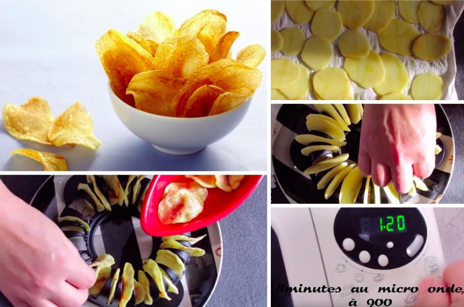 La recette inratable des chips au micro ondes la recette for Chips carotte micro onde