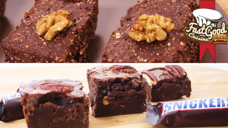 2 recettes de brownies tester la gourmande aux snickers et la light sans cuisson la recette. Black Bedroom Furniture Sets. Home Design Ideas