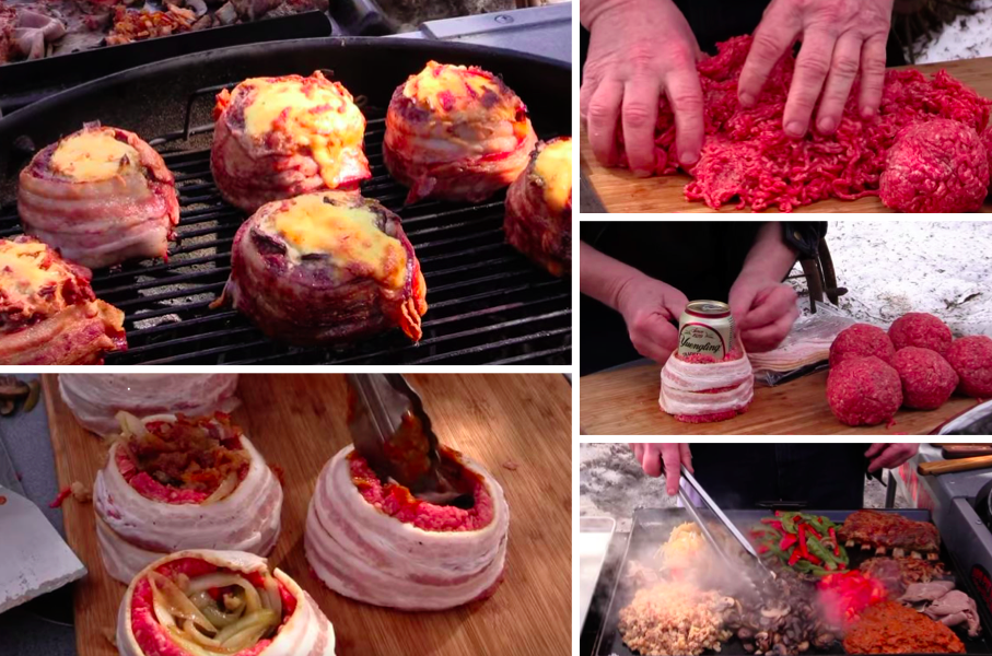 Recette originale barbecue finest burger barbecue du - Idee originale barbecue ...