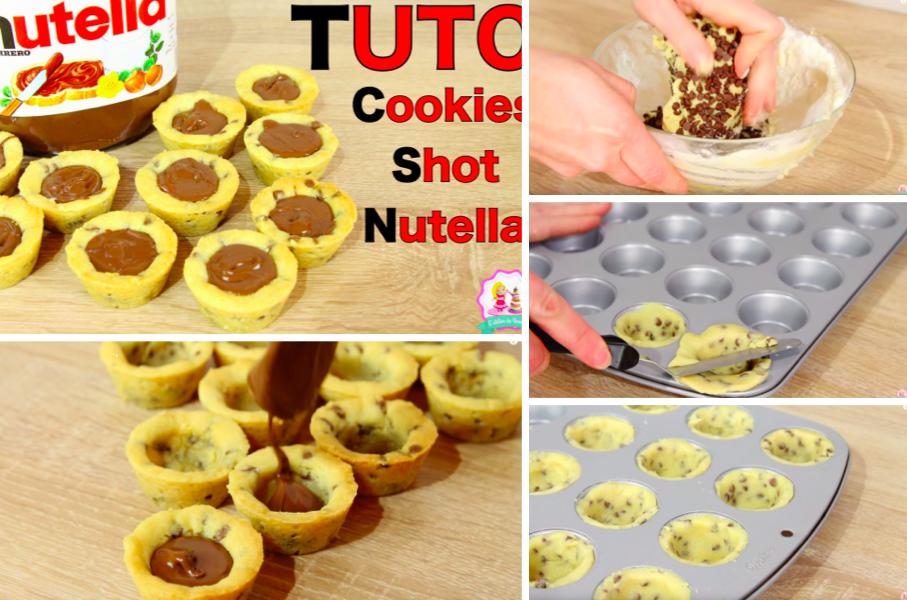 La recette des irr sistibles cookies shot au nutella la recette - Recette de cookies au nutella ...