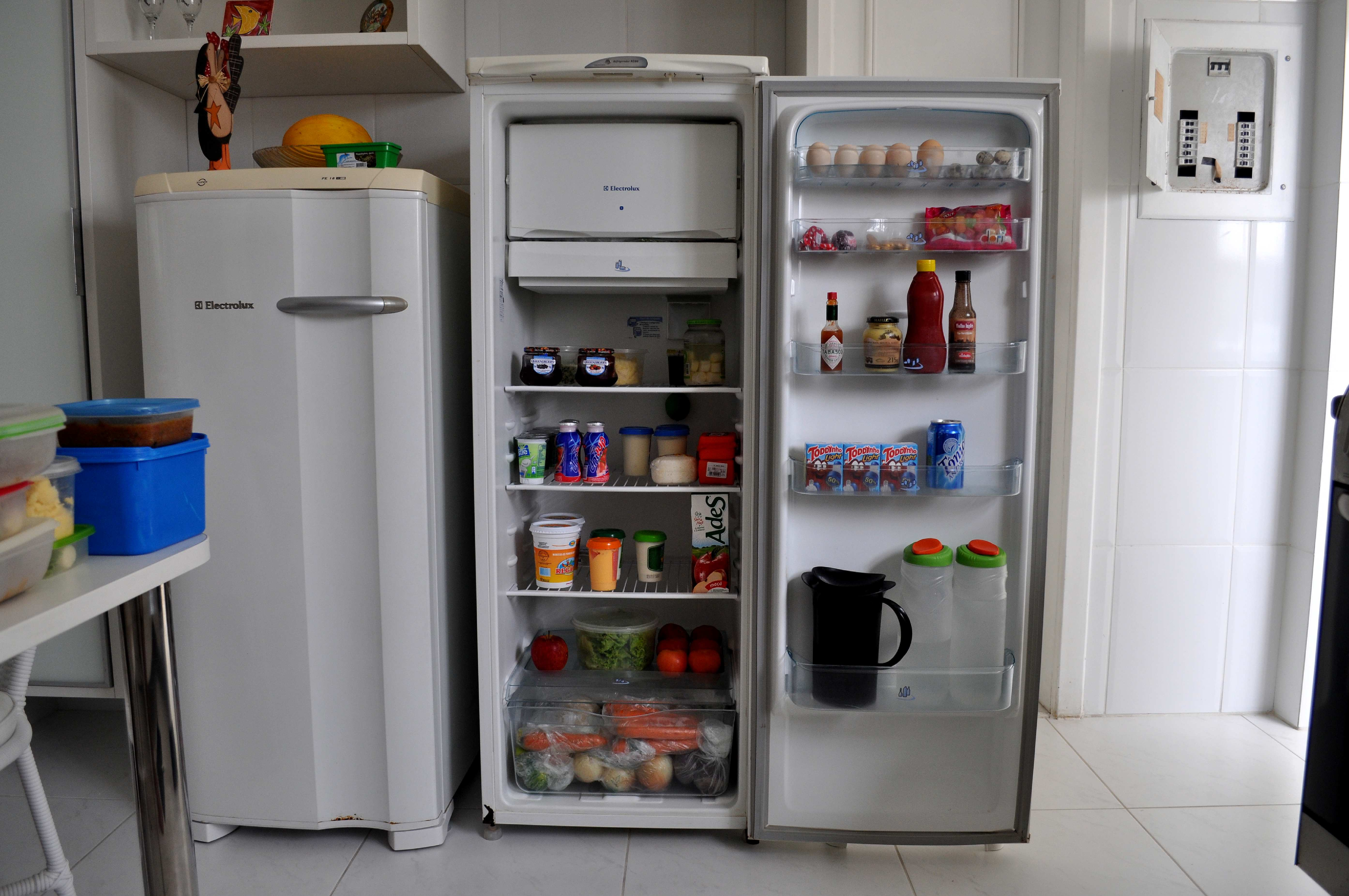 Fridge with groceries