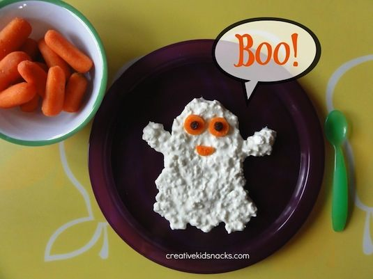 64-non-candy-halloween-snack-ideas-cottage-cheese-ghost