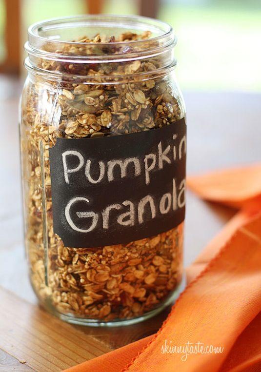 64-non-candy-halloween-snack-ideas-pumpkin-granola