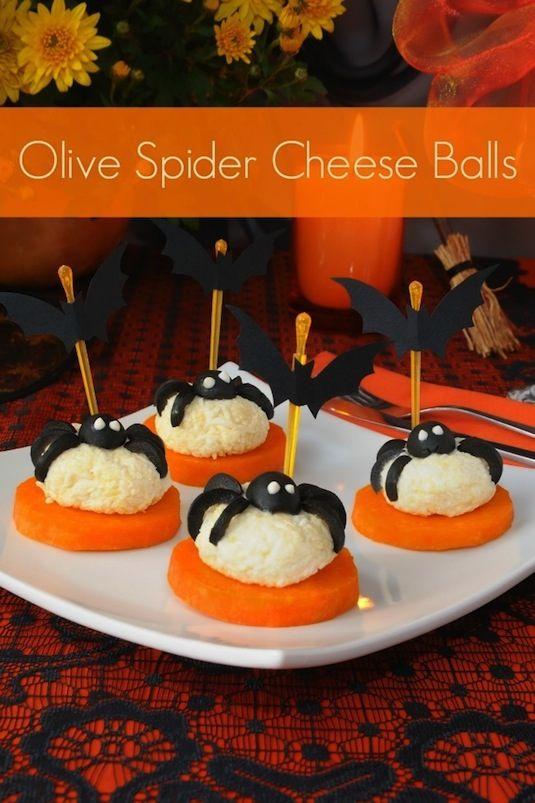 64-non-candy-halloween-snack-ideas-spider-cheese-balls