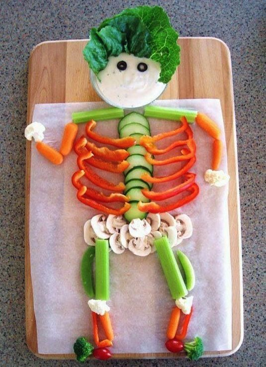 64-non-candy-halloween-snack-ideas-veggie-skeleton