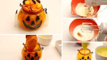 La verrine à l'orange façon Citrouille pour Halloween