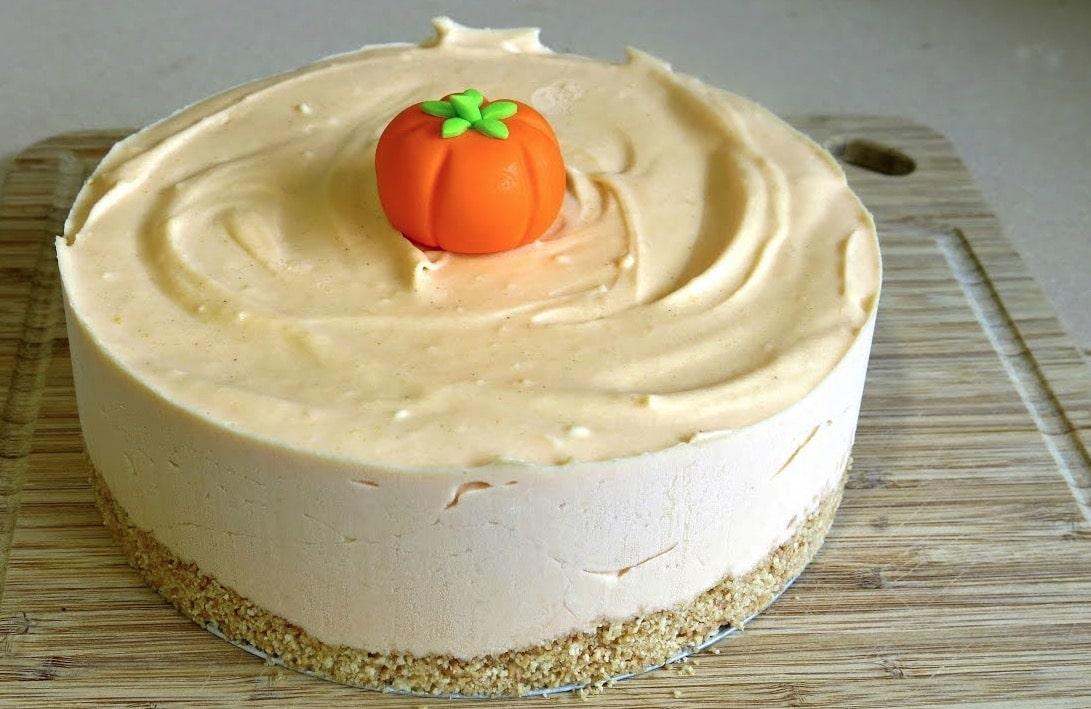 cheesecake citrouille halloween