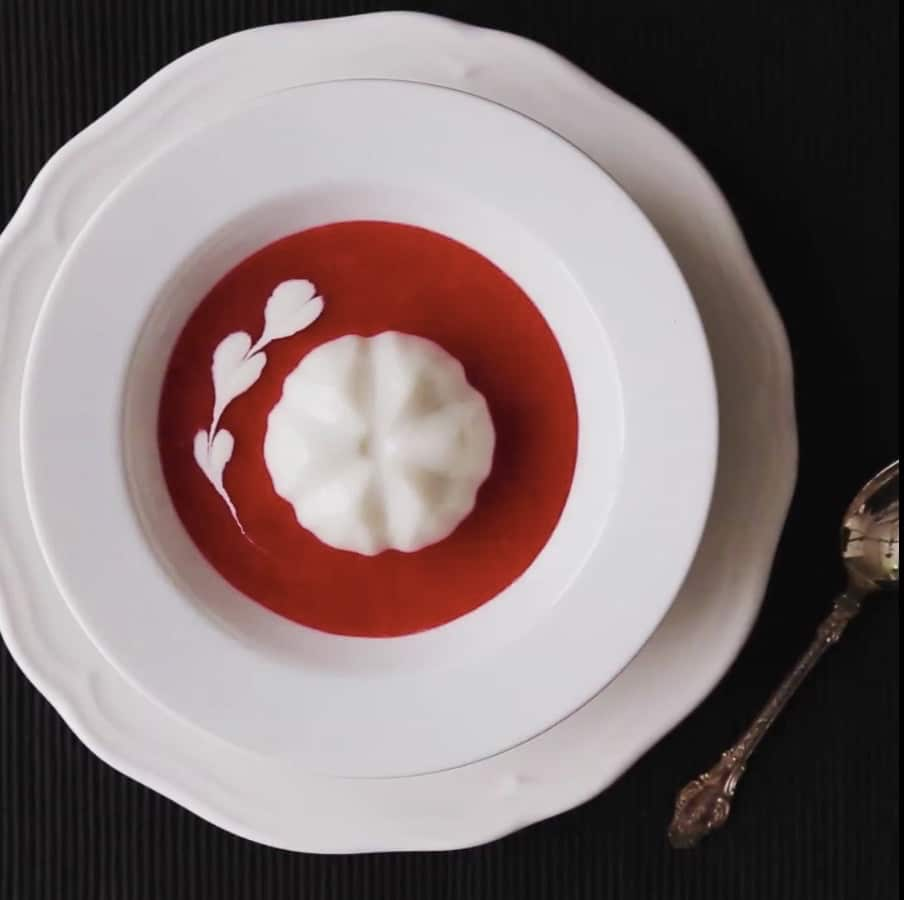 Blanc manger coco fraises