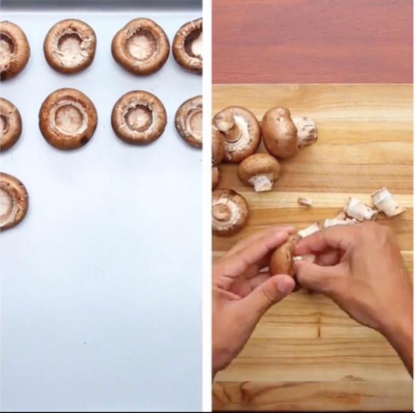Les champignons de paris fourr s aux pinards et la cr me la recette - Champignon de paris a la poele ...