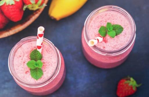 yaourt fraise banane