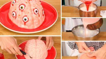 un cerveau pour votre dessert d'Halloween