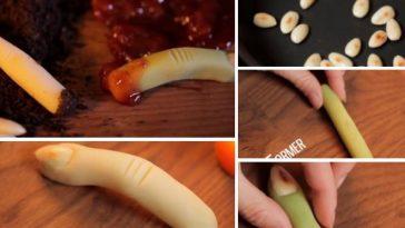 Les doigts de sorcière en pâte d'amande