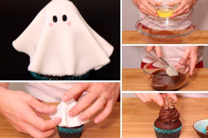 Comment Faire Des Cupcakes Fantome Pour Halloween La Recette