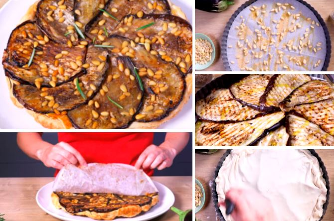 La tatin d 39 aubergines une id e originale de tarte sal e la recette - Recette tarte salee originale ...