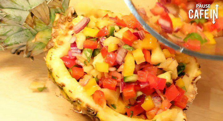 Dégustez une recette de salade ensoleillée à l'ananas