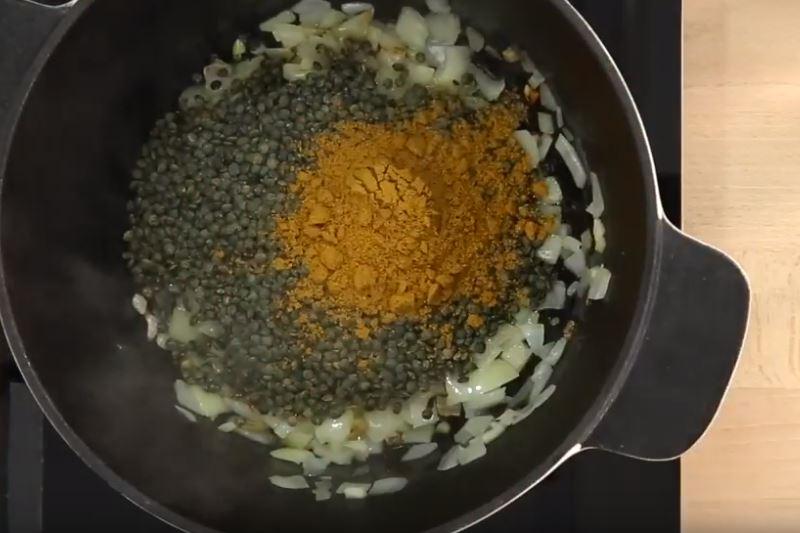 Curry végétarien aux lentilles et courgettes2