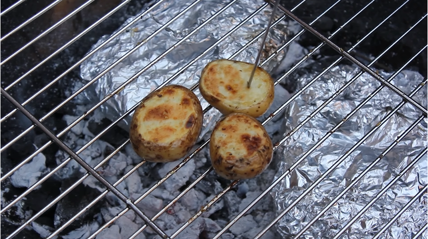 Pommes de terres Patate rôties au barbecue