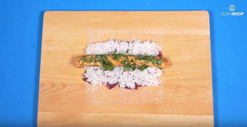 Spring roll tataki saumon
