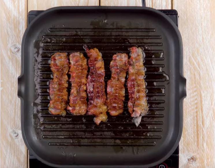 Cake de viande hachée et sa purée au bacon2