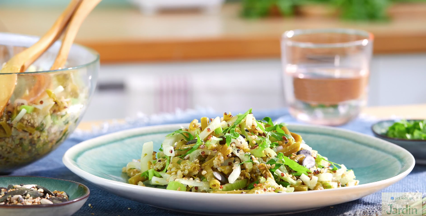 Salade de quinoa aux haricots verts