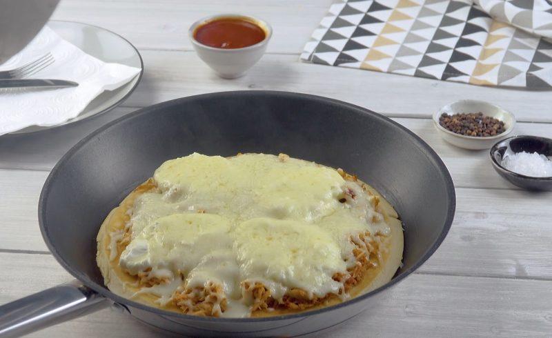 Crêpe au poulet et au fromage fondant