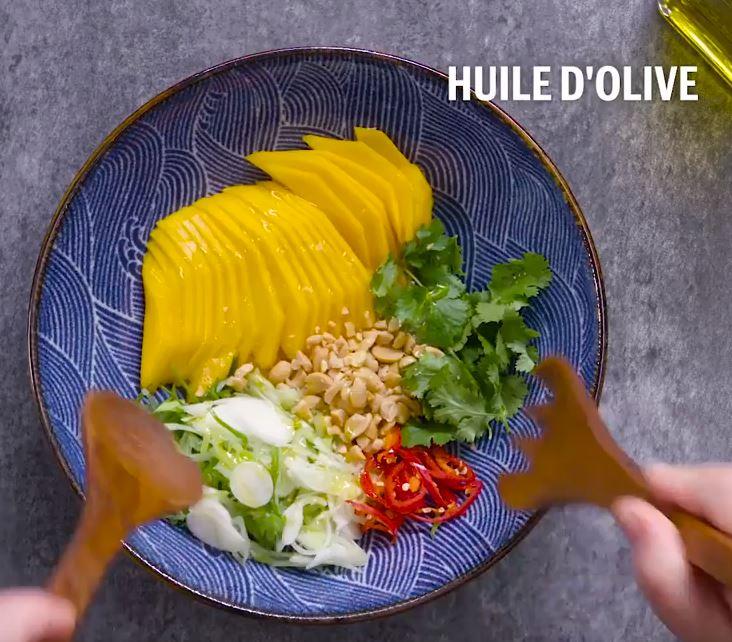 Brochettes de bœuf et salade de mangue3