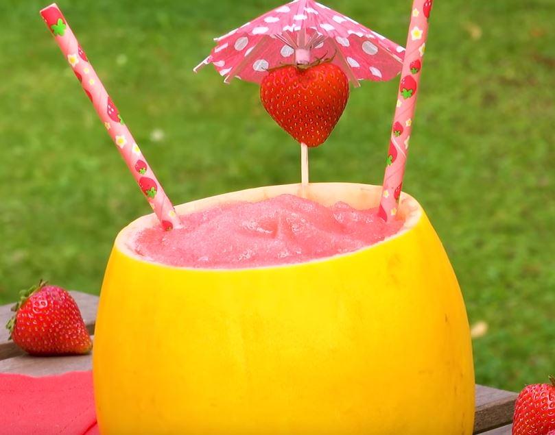 Le cocktail frosecco aux fraises et au melon4