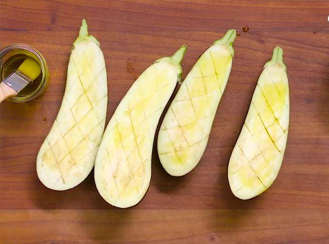Plat de pâtes aux légumes grillés1