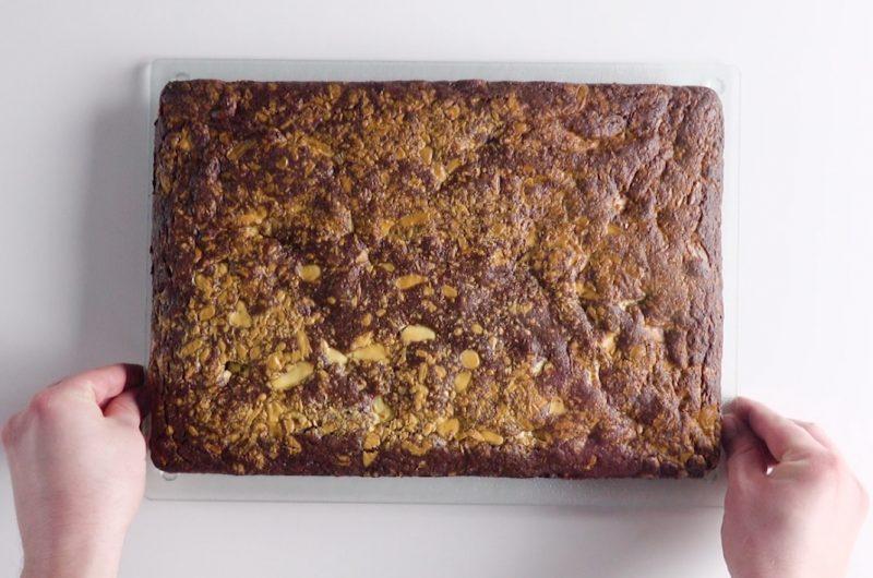 Le brownie coeur coulant aux pépites de chocolat blanc