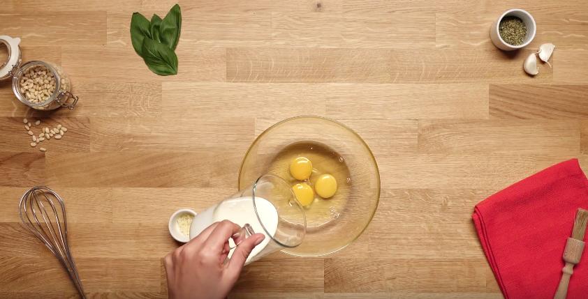 Quiche à l'italienne aux lardons, tomates et mozzarella