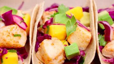 Tacos au cabillaud et sa garniture savoureuse