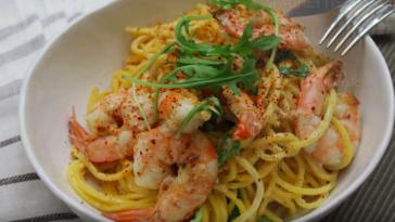 Spaghettis aux gambas