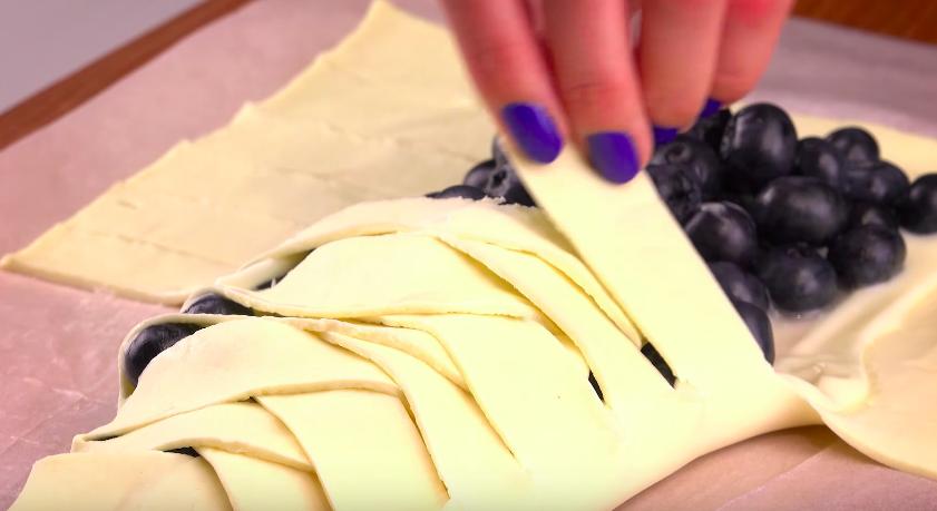 La recette des croustillant tressé aux myrtilles