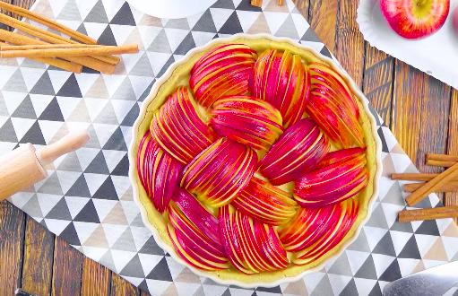 Tarte aux pommes séduisante