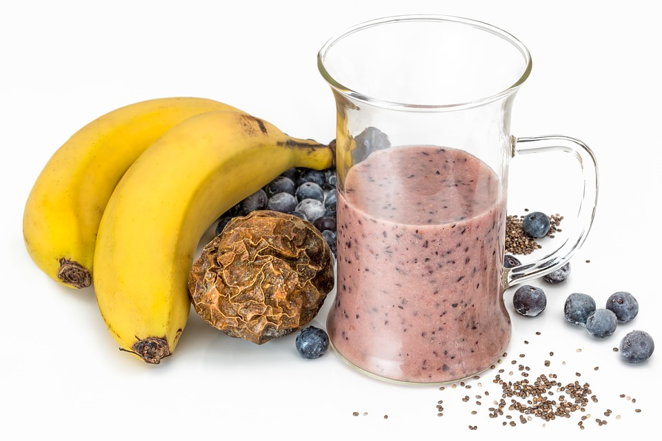 smoothie vitamines aux myrtilles et bananes