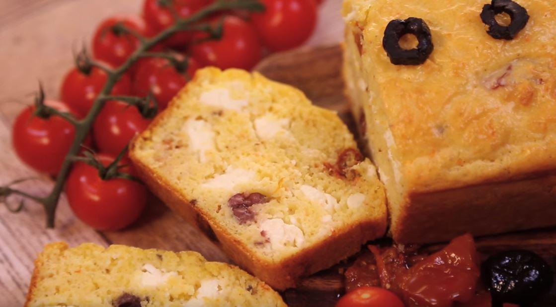 cake chèvre et tomates séchées