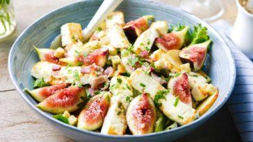 salade figue lard et feta