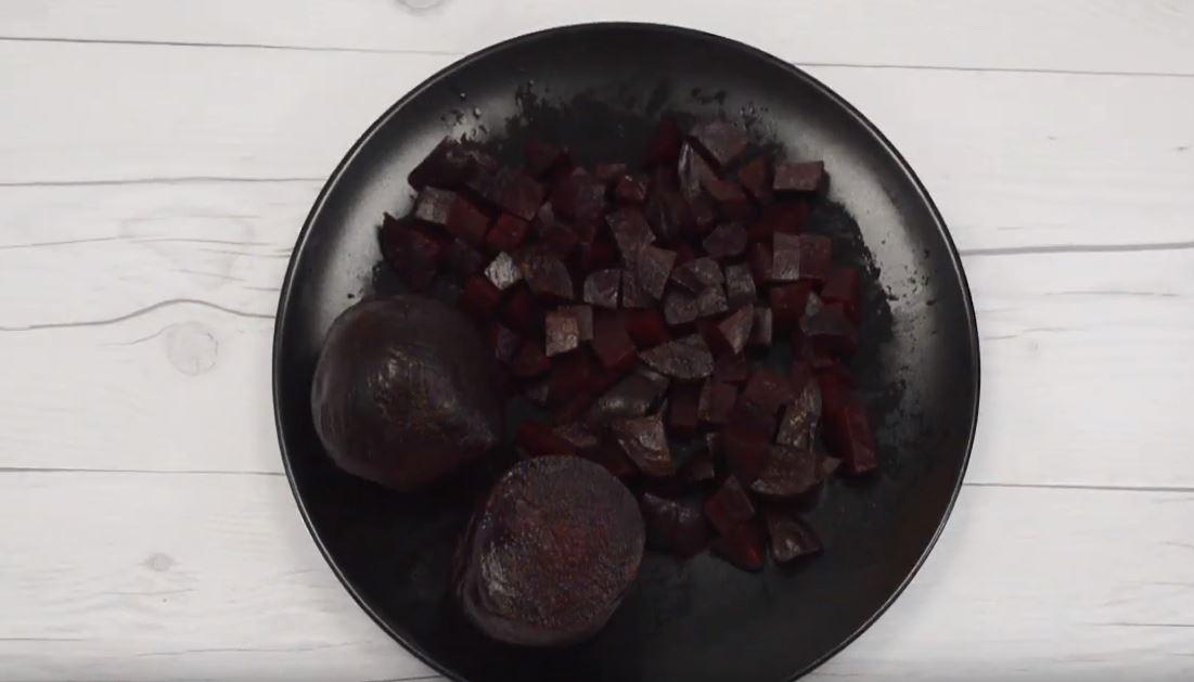 salade betteraves et poires àl'huile de noix