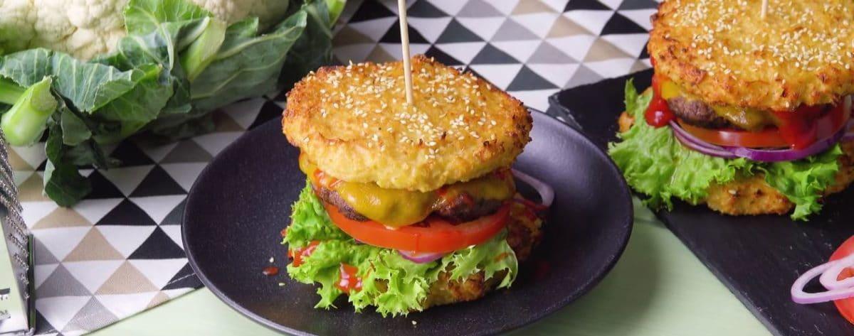 burger au pain chou fleur